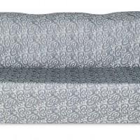 Чехол на трехместный диван Жаккард Вензель, темно-серый