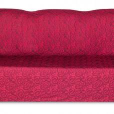 Чехол на трехместный диван Жаккард Вензель, бордовый