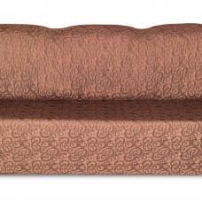 Чехол на трехместный диван Жаккард Вензель, шоколад