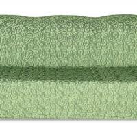 Чехол на трехместный диван Жаккард Вензель, зеленый