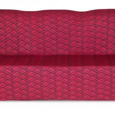 Чехол на трехместный диван Жаккард Листья, красный