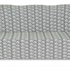 Чехол на трехместный диван Жаккард Листья, серый