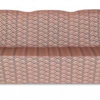 Чехол на трехместный диван Жаккард Листья, коричневый