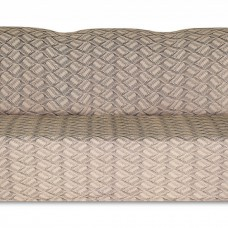 Чехол на трехместный диван Жаккард Листья, бежевый