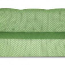 Чехол на трехместный диван Жаккард Паркет, зеленый