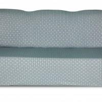 Чехол на трехместный диван Жаккард Паркет, серо-голубой