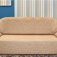 Чехол на четырехместный диван универсальный Богемия Беж