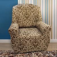 Чехол на кресло универсальный Богемия М Беж
