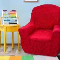 Чехол на кресло универсальный Бостон Рохо
