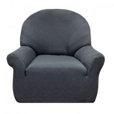 Чехол на кресло универсальный Аляска Грис