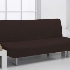 Чехол на диван без подлокотников универсальный Аляска Марон