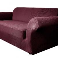 Чехол на двухместный диван Бирмингем фиолетовый