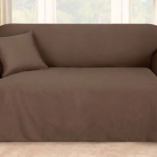Чехол на двухместный диван Брайтон шоколад