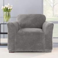 Чехол на двухместный диван Бруклин светло-серый