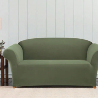 Чехол на двухместный диван Бирмингем оливковый