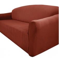 Чехол на двухместный диван Бирмингем терракот