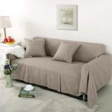 Чехол на двухместный диван Лидия бежевый