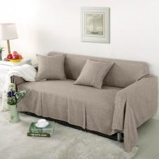 Чехол на широкий трехместный диван Лидия бежевый