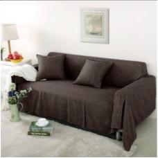 Чехол на широкий трехместный диван Лидия шоколад