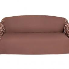 Чехол на трехместный диван Бостон шоколад