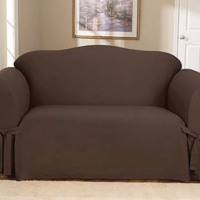 Чехол на трехместный диван Брайтон шоколад