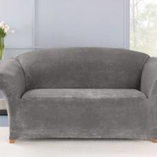 Чехол на трехместный диван Бруклин светло-серый