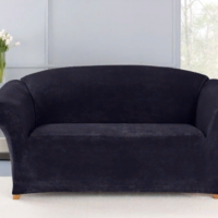 Чехол на трехместный диван Бруклин темно-серый
