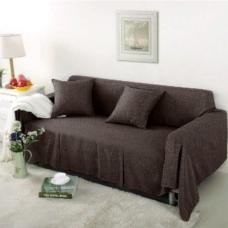 Чехол на трехместный диван Лидия шоколад