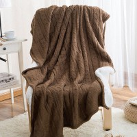 Двусторонний вязаный плед Comfort шоколад 160х220 см