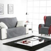 Накидка на двухместный диван Иден темно-серый