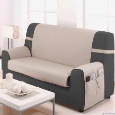 Накидка на широкий трехместный диван Иден бежевый