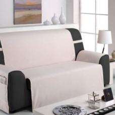 Накидка на широкий трехместный диван Иден светло-серый