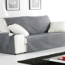 Накидка на широкий трехместный диван Иден темно-серый