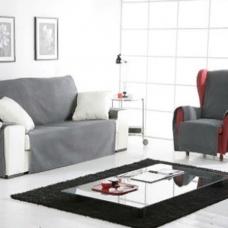 Накидка на трехместный диван Иден темно-серый
