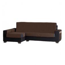Накидка на угловой диван Иден шоколад, левый угол