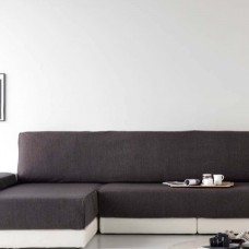 Накидка на угловой диван Иден темно-серый, левый угол