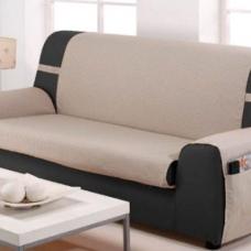Накидка непромокаемая на двухместный диван Иден бежевый
