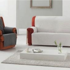 Накидка непромокаемая на двухместный диван Иден светло-серый