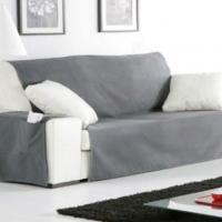 Накидка непромокаемая на двухместный диван Иден темно-серый