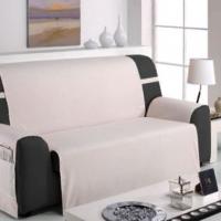 Накидка непромокаемая на широкий трехместный диван Иден светло-серый