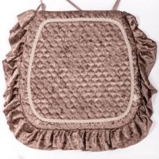 Сидушка для стула Велюр коричневый