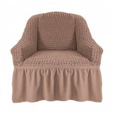 Чехол на кресло с оборкой (Капучино)