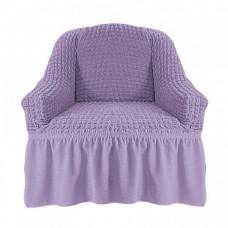 Чехол на кресло с оборкой (Лиловый)