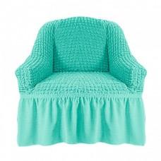 Чехол на кресло с оборкой (Мятный)