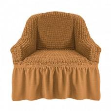 Чехол на кресло с оборкой (Кофе с молоком)