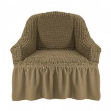 Чехол на кресло с оборкой (Хаки)