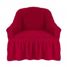 Чехол на кресло с оборкой (Бордовый)