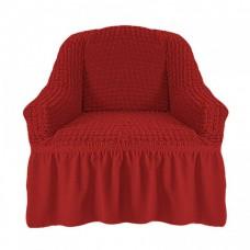 Чехол на кресло с оборкой (Терракотовый)