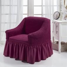 Чехол на кресло с оборкой (Фиолетовый)