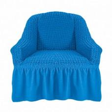 Чехол на кресло с оборкой (Лазурный)